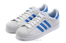 Découvrez Original Réduction Adidas Superstar Femme Bleu Chaussures Pas Cher   Royer2l3O61199  c56624e90f35