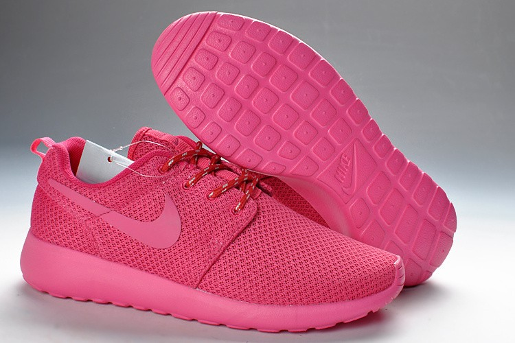 Découvrez Populaire Nike Roshe Run Femme Rose Chaussure Pas Cher Royer3601293